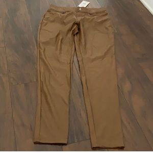 Gorgeous brand new brown leather Hue tights/pants